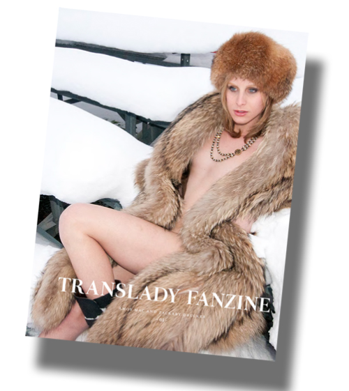 Translady Fanzine, Issue 1 featuring Zackary Drucker. 19.5″ x 13.37″ when open. edition of 1000